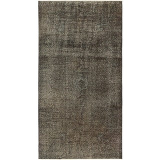 ecarpetgallery Hand-Knotted Anatolian Overdyed Black, Green Wool Rug (3'10 x 7'3)