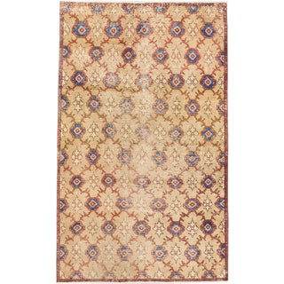 ecarpetgallery Hand-Knotted Keisari Vintage Ivory Wool Rug (4'4 x 7'1)
