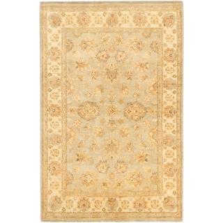 ecarpetgallery Hand-Knotted Peshawar Oushak Grey Wool Rug (4'8 x 6'11)