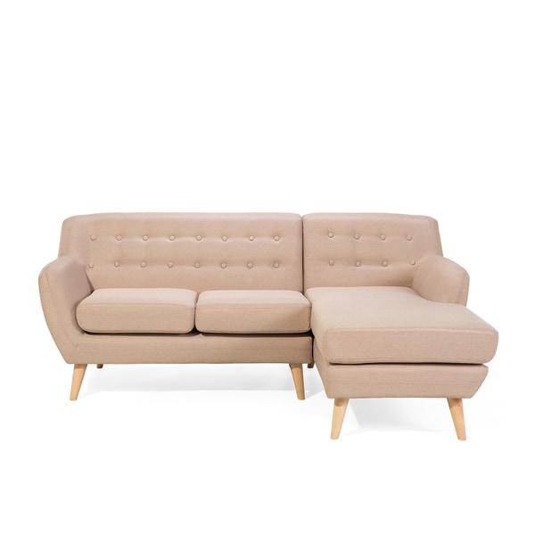 Tufted L Shape Sectional Corner Sofa Moda Nordic Design