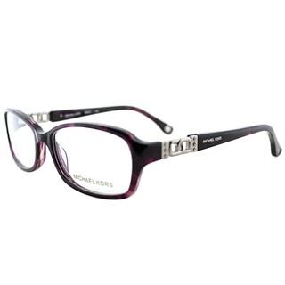 Michael Kors Women's Purple Horn Plastic 54-millimeter Oval Eyeglasses