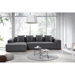 Contemporary Sectional Sofa in Fabric (Left or Right Facing) - LUNGO