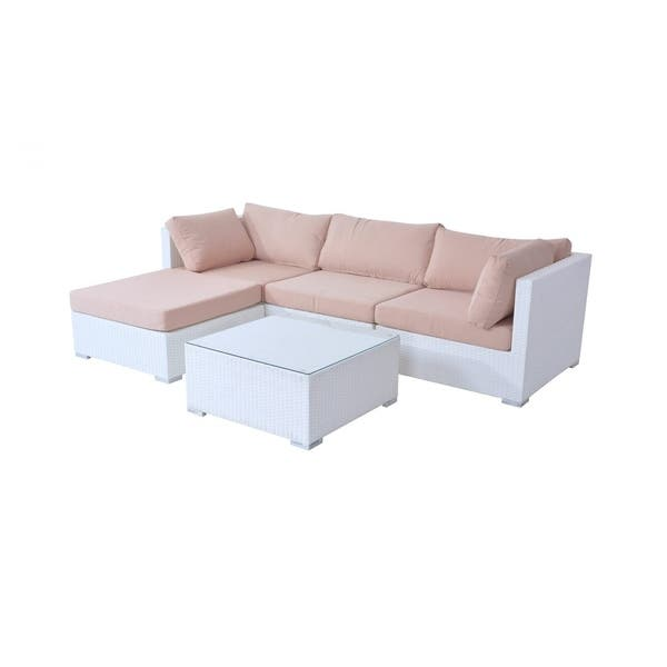 Fine Shop 3 Piece White Wicker Sofa Set With Cushions Free Unemploymentrelief Wooden Chair Designs For Living Room Unemploymentrelieforg