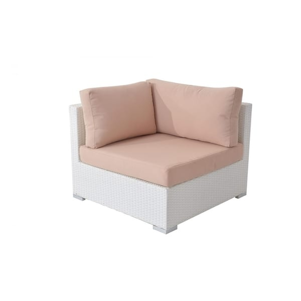 Wondrous Shop 3 Piece White Wicker Sofa Set With Cushions Free Unemploymentrelief Wooden Chair Designs For Living Room Unemploymentrelieforg
