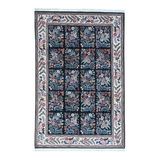 "Sino Tabriz Botanical Garden Design Wool/Silk 300 Kpsi Rug (6'x9'2"")"