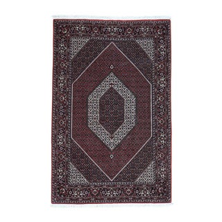 Wool And Silk Fine Persian Bidjar 350 Kpsi Kork Wool Rug (4'8x7'3)