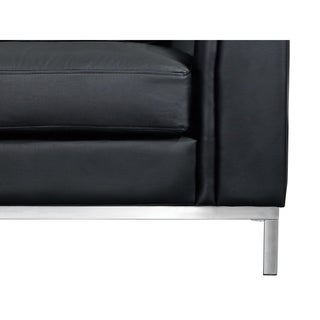 Modern Sectional Sofa in Leather with Ottoman - OLLON