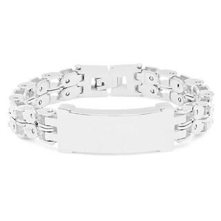 Silvertoned Stainless Steel Bracelet