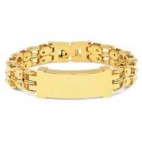 Steeltime Men's Gold Tone ID Bracelet