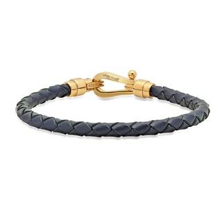 Men's Steeltime Navy Blue Leather Bracelet