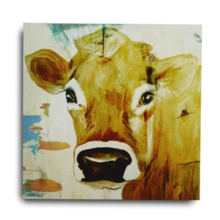 Gallery 57 'Cow Gaze' Gallery Wrapped Canvas Wall Art