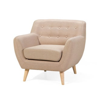Tufted Living Room Arm Chair Fabric Upholstered