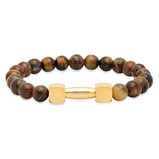 18k Goldplated Tiger Eye Beaded Bracelet