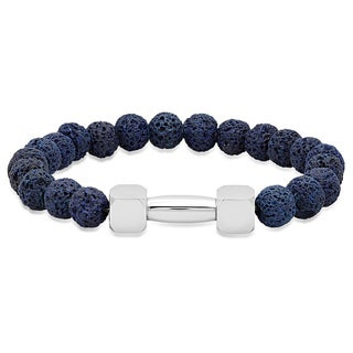 Blue Lava Multicolor Stainless Steel Beaded Bracelet