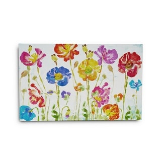 Gallery 57 'Colorful Poppies' Gallery-wrapped Canvas