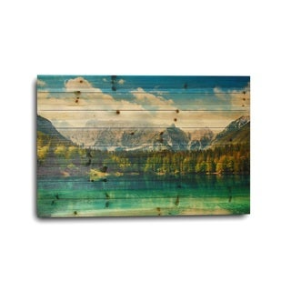 'Rocky Mountain Lake' Wood Photo Print