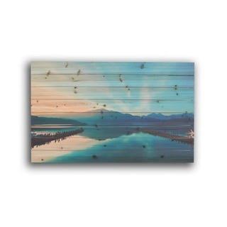 Gallery 57 'Serene Lake' Photo Wood Print