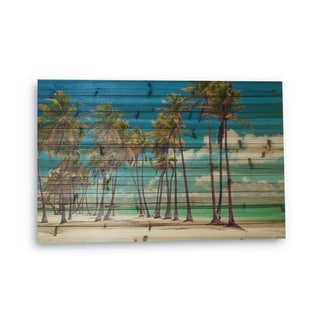Gallery 57 'Palm Trees' Photographic Print on Wood Wall Art