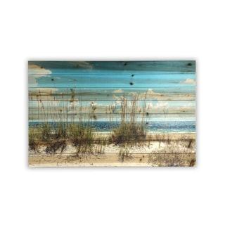 Gallery 57 'Large Sand Dunes' Print on Wood Wall Art