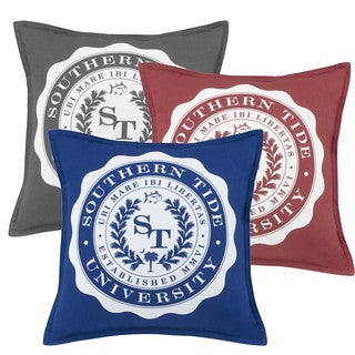 Southern Tide Skipjack Chino University Decorative Throw Pillow (2 options available)
