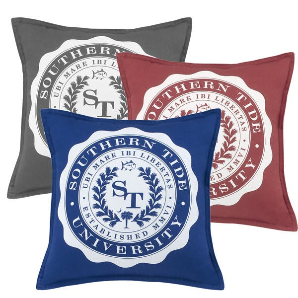 Southern Tide Skipjack Chino University Decorative Throw Pillow On Sale Overstock 13433553