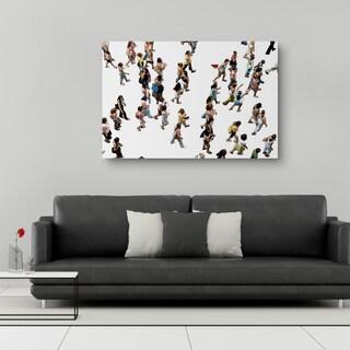 David Hill 'The Gathering I' 28-inch x 42-inch Canvas Wall Art