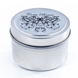 Costa Brava Silver Luxury Tin and Soy Wax Travel Candle