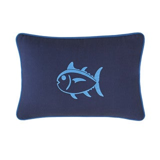 Southern Tide Dock Street Stripe Embroidered Skipjack Throw Pillow