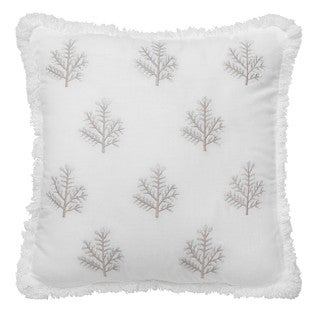 Dena Home Luna Square Spring Embroidered Decorative Throw Pillow