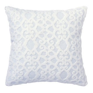 Dena Home Dream White Crewel Decorative Throw Pillow