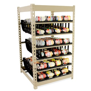 First-In/First-Out (FIFO) Canned Food Storage Shelf (200+ Capacity)