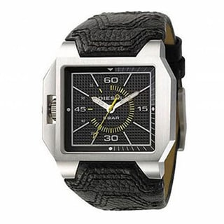 Diesel Men's DZ1266 Black Leather Quartz Watch