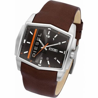 Diesel DZ1341 Gents Brown Strap Brown Split Level Watch