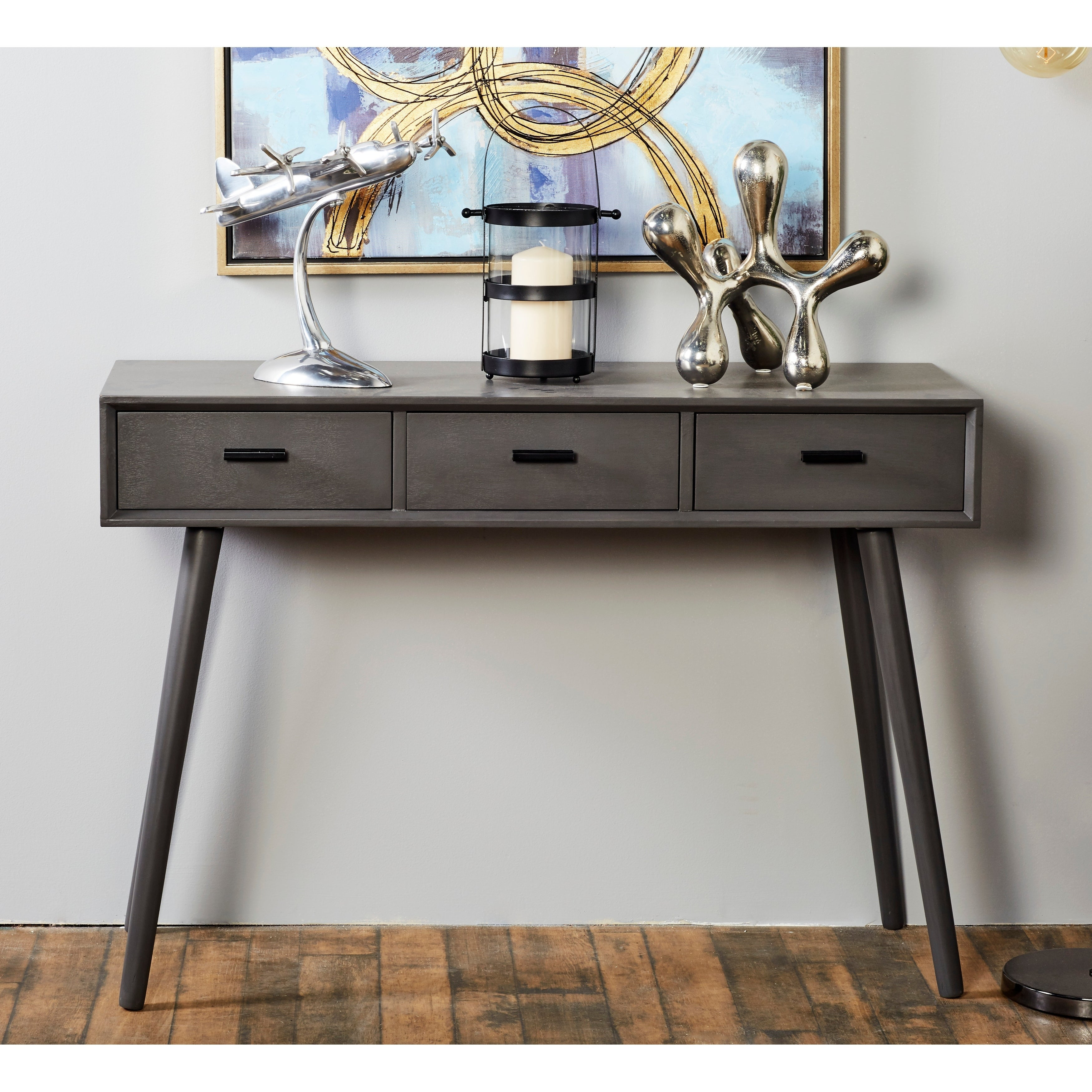 Benzara Black Wood 42 Inch Wide X 29 Inch High Console Table Overstock 13433683