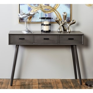 Benzara Black Wood 42-inch Wide x 29-inch High Console Table