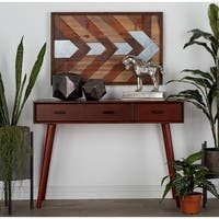 Modern Rectangular Matte Brown Console Table by Studio 350