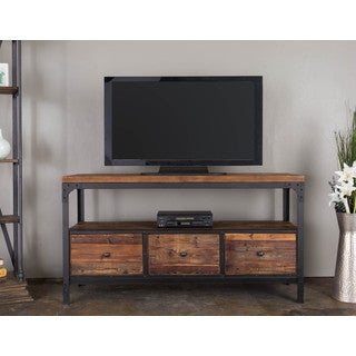 Somette Natural Reclaimed 3-drawer Media Console