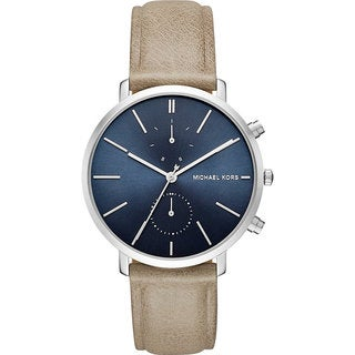 Michael Kors Men's MK8540 Jaryn Chronograph Blue Dial Tan Leather Watch