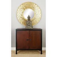Benzara Wood 31-inch Wide x 29-inch High Cabinet