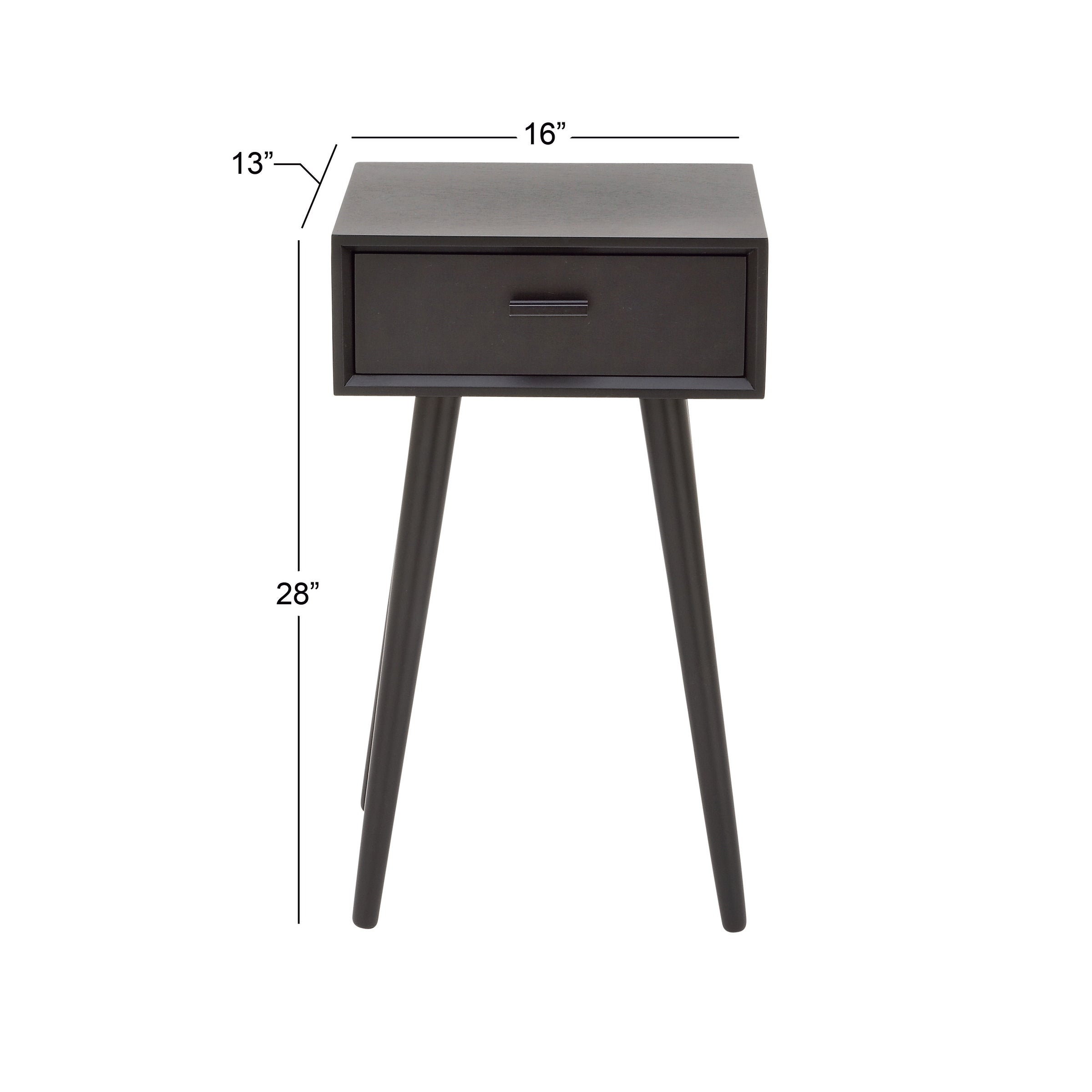 Shop Benzara Black Wood 16-inch Wide 28-inch High Accent Table