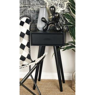 Benzara Black Wood 16-inch Wide 28-inch High Accent Table