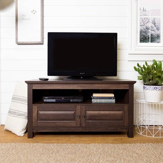 44-inch Smoked Chestnut Wood Storage TV Stand
