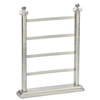 Silver-tone Acrylic Earring Stand