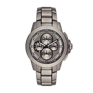 Michael Kors Men's MK8530 Ryker Chronograph Grey Dial Titanium Bracelet Watch