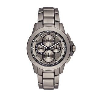 Michael Kors Men's MK8530 Ryker Chronograph Grey Dial Titanium Bracelet Watch