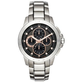 Michael Kors Men's MK8528 Ryker Chronograph Black Dial Stainless Steel Bracelet Watch