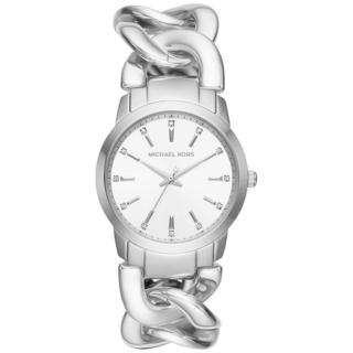 Michael Kors Women's MK3607 Elena Silver Dial Silver-Tone Stainless Steel Chain Link Bracelet Watch