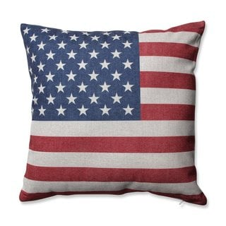 Pillow Perfect Stars & Stripes Patriot 16.5-inch Throw Pillow