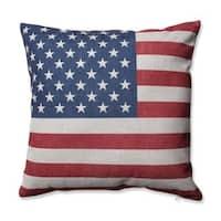Pillow Perfect Stars & Stripes Patriot 16.5-inch Throw Pillow