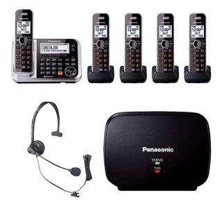 Panasonic KX-TG7875S Bluetooth Enabled Phone w/ KX-TG680S DECT 6.0 Cordless Telephone, Headset & Range Extender